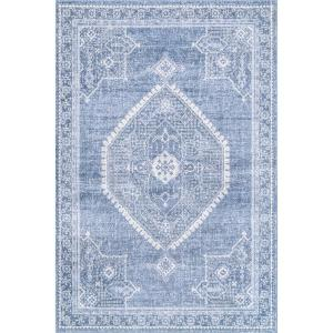 Isla Distressed Persian Blue 5 ft. x 8 ft. Area Rug