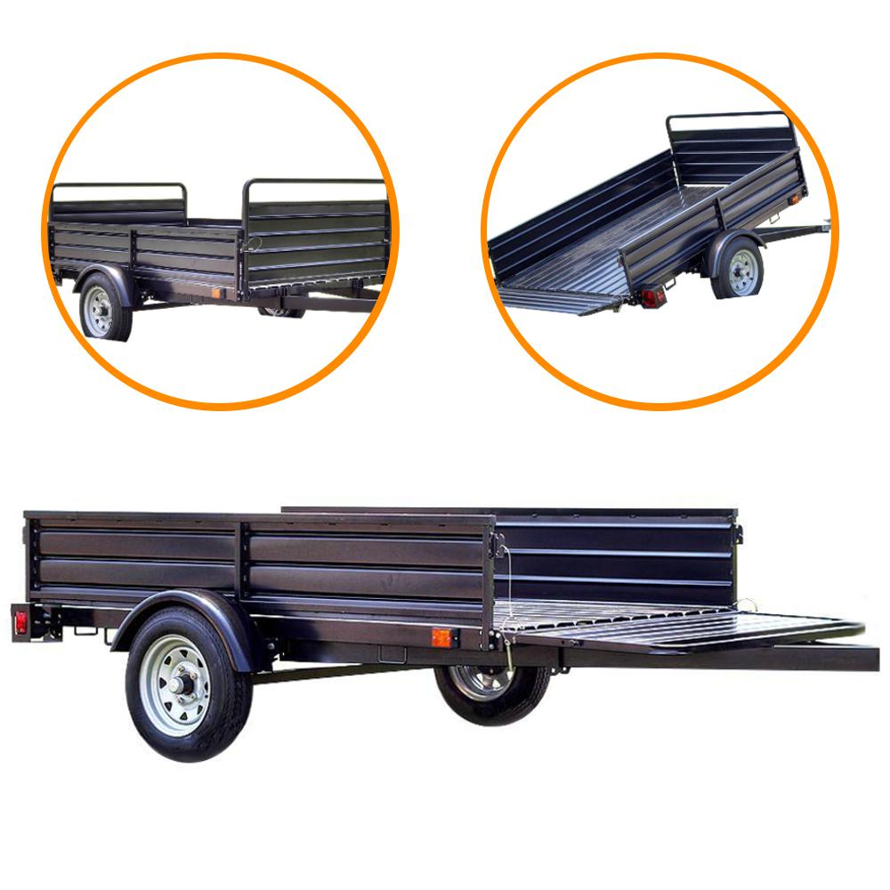 lb payload capacity 45 ft x 75 ft utility trailer with bed