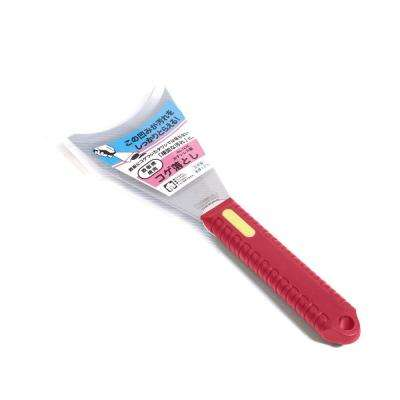 NJP1675 Stainless Steel Scraper Knife Y, U-Shaped Blade, Red Handle