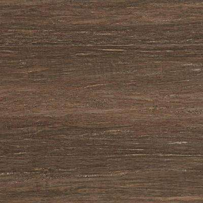 Hand Scraped Strand Woven Pecan 3/8 in. T x 5-1/8 in. W x 72-7/8 in. L Engineered Click Bamboo Flooring