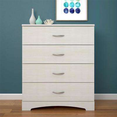 Crescent Point 4-Drawer Ivory Dresser