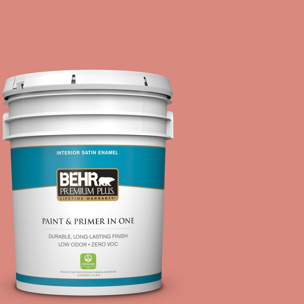 BEHR Premium Plus 5-gal. #M170-5 Indian Sunset Satin Enamel Interior Paint