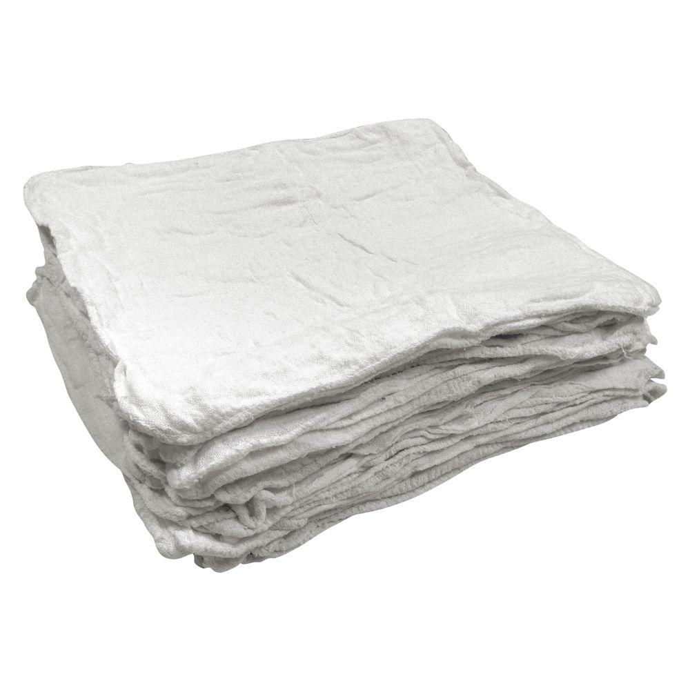 50-Count 12 In. X 14 In. White Shop Towels-S-99844
