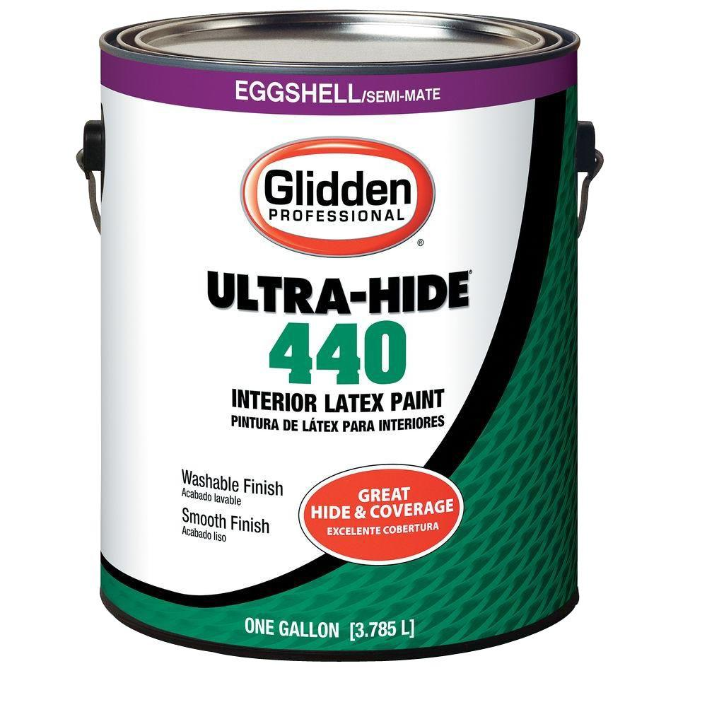Glidden Professional 1 gal. Ultra-Hide 440 Eggshell White Tint Base Interior Paint