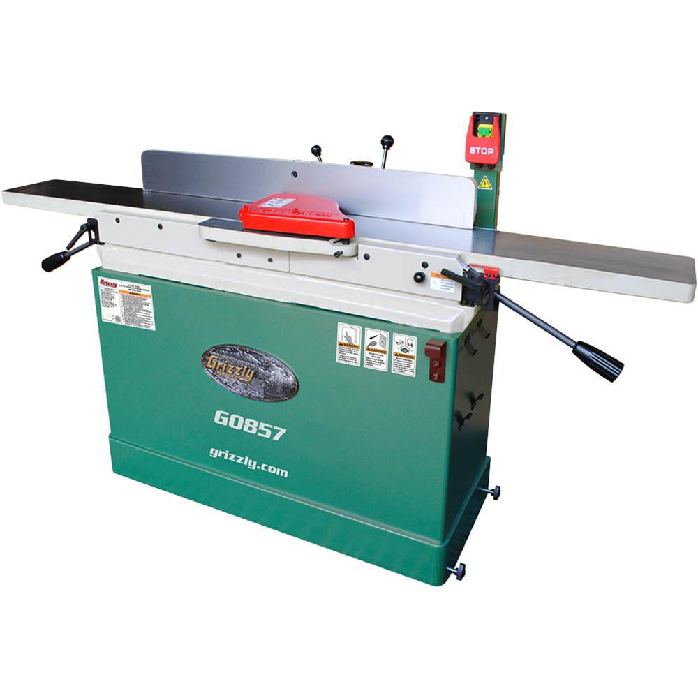 Grizzly Industrial 12 Amp 8 inch Parallelogram Corded Jointer w/ Mobile Base
