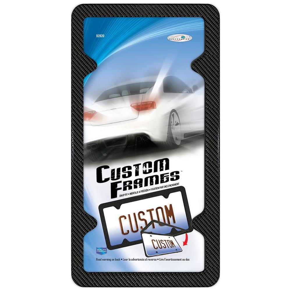 Carbon Fiber Plastic License Plate Frame-92820 - The Home Depot