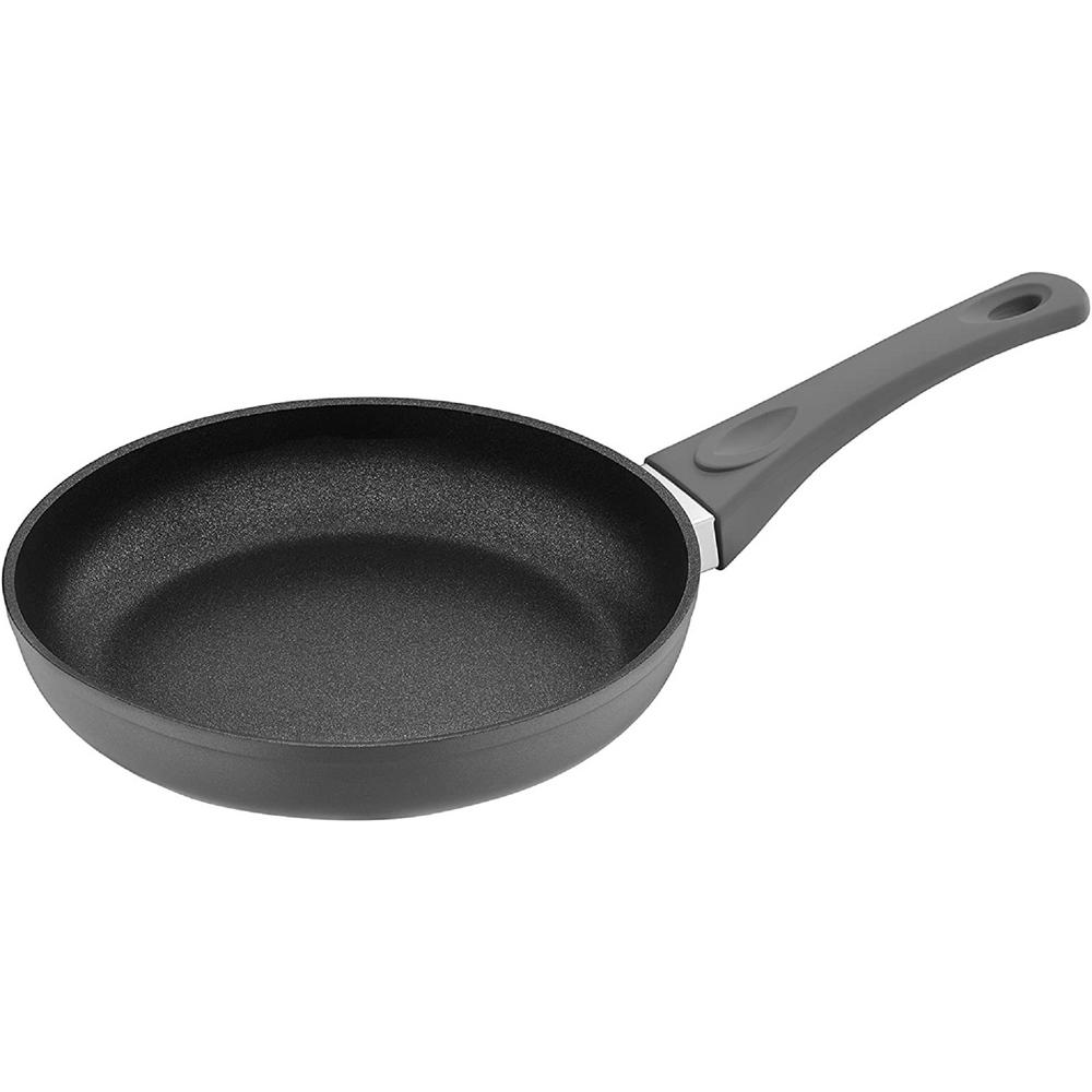 11 in. Titanium Coated Aluminum Non-Stick Frying Pan in Gray