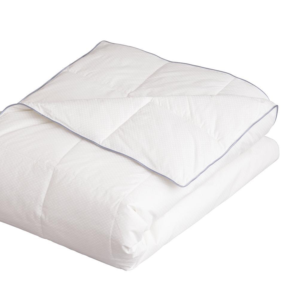 Serenity Cool White PCM 100% Cotton Down Alternative Filled King Blanket
