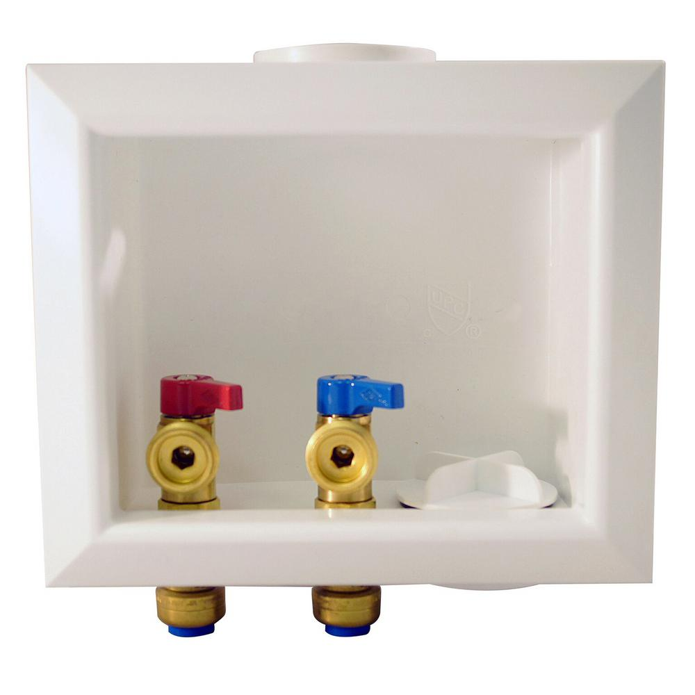 Tectite 1 2 In Brass Washing Machine Outlet Box Fsbboxwm The Home