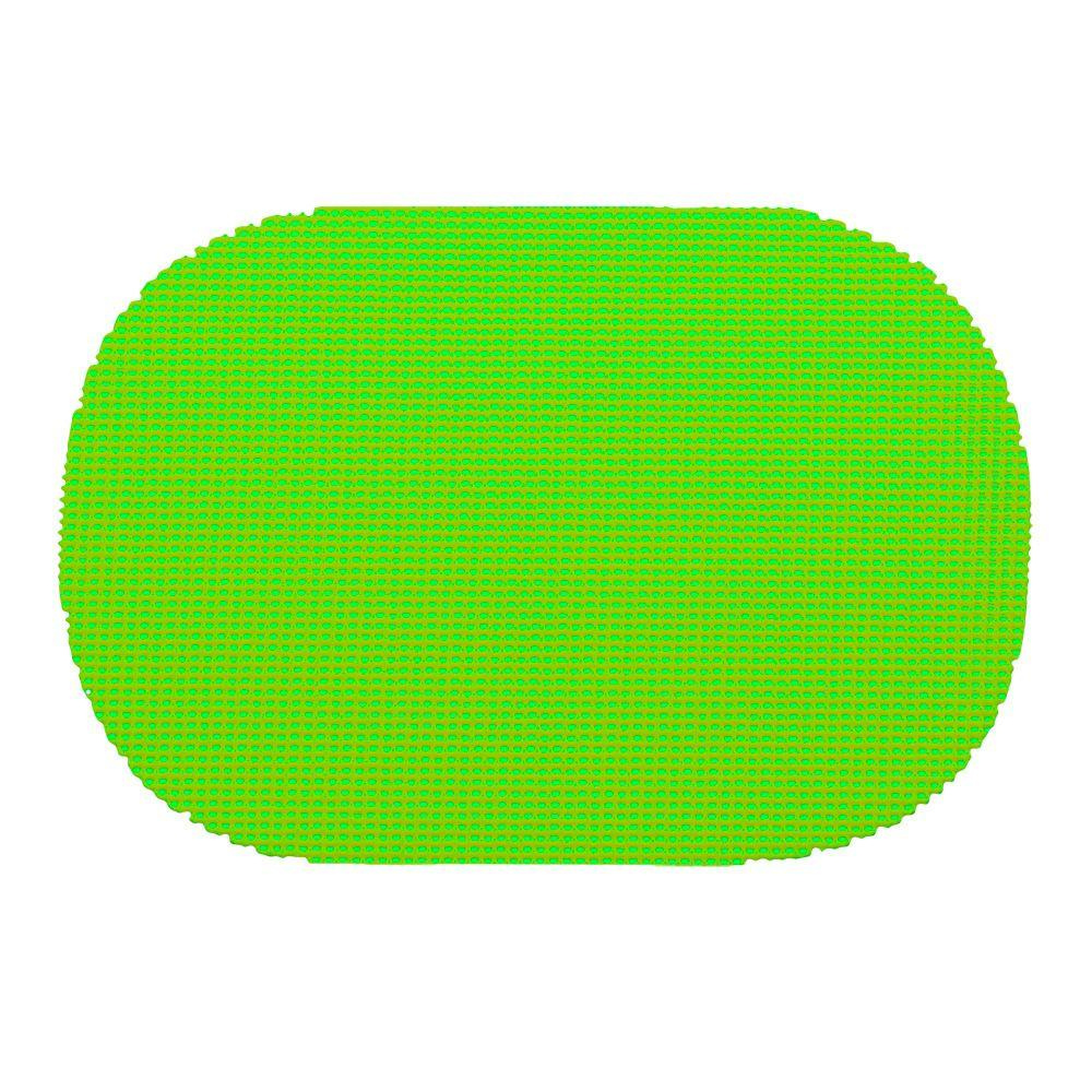 Fishnet Oval Placemat in Lime Green (Set of 12)