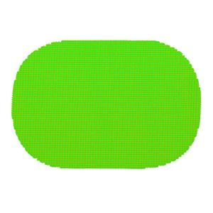 Kraftware Fishnet Oval Placemat in Lime Green (Set of 12) by Kraftware