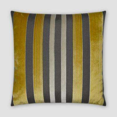 Cayman Yellow Feather Down 20 in. x 20 in. Standard Decorative Throw Pillow