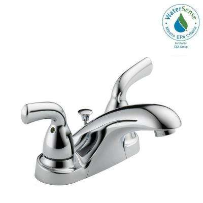 Foundations 4 in. Centerset 2-Handle Bathroom Faucet in Chrome
