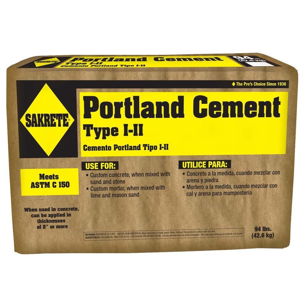 Sakrete 94 Lb Type I Ii Portland Cement Concrete Mix