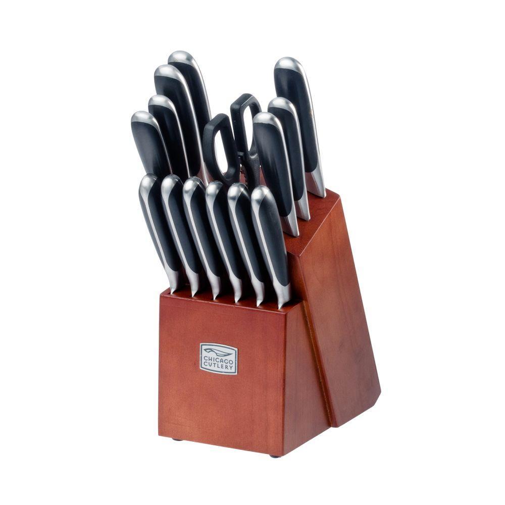 Chicago Cutlery Belden 15 Piece Knife Set 1106277 The Home Depot