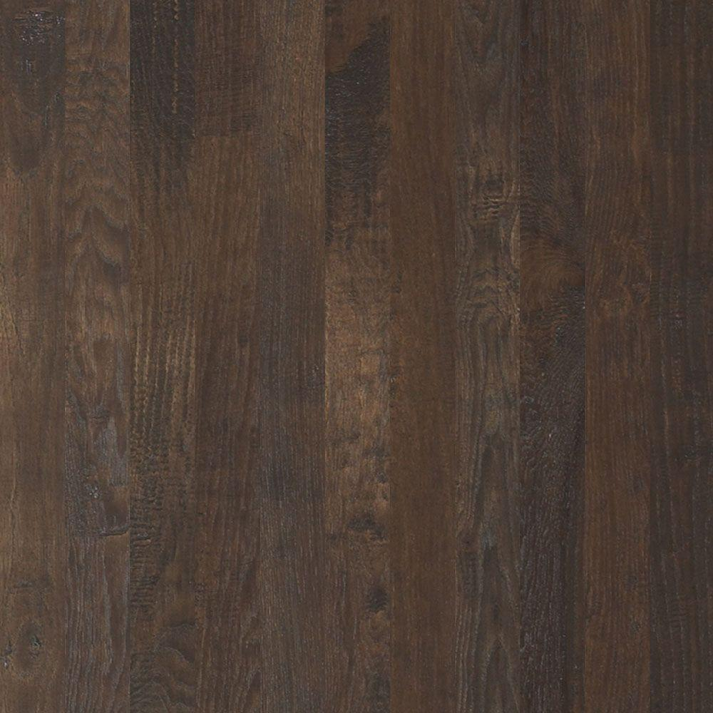 Shaw western hickory winter grey 3 4 in thick x 3 1 4 in for Shaw hardwood flooring