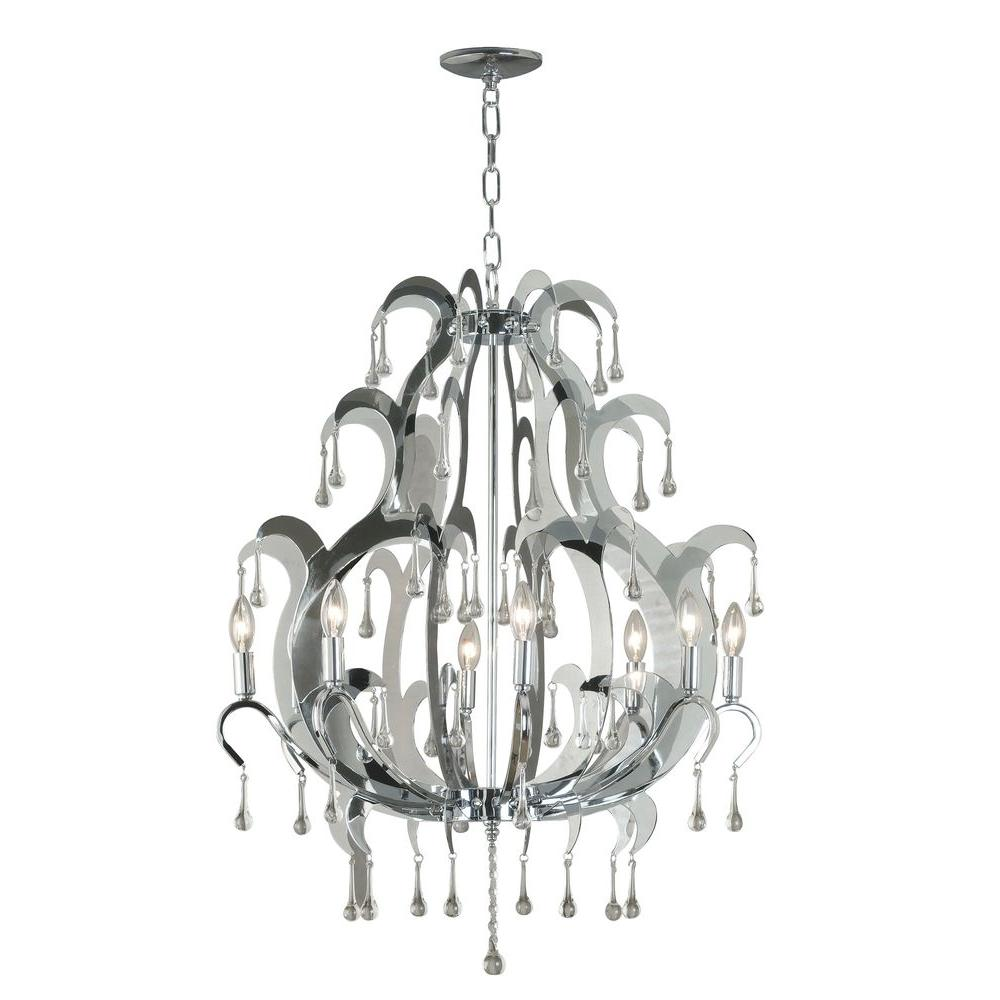 Kenroy Home Winter 8-Light Chandelier-DISCONTINUED