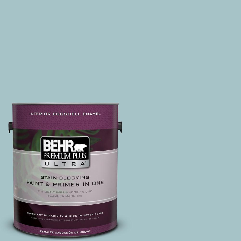 BEHR Premium Plus Ultra 1-gal. #510E-3 Ocean Kiss Eggshell Enamel Interior Paint