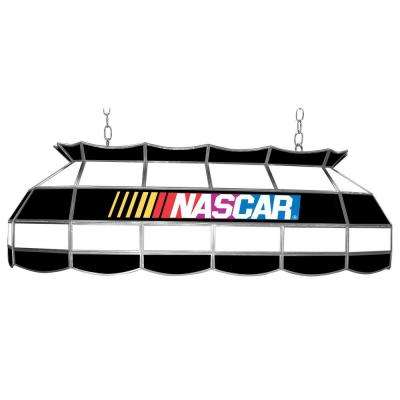 NASCAR 3-Light Stained Glass Hanging Tiffany Lamp