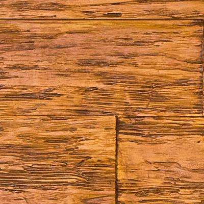 Superior Time Weathered 10 in. x 10 in. Faux Rustic Panel Siding Sample in Honey Pine