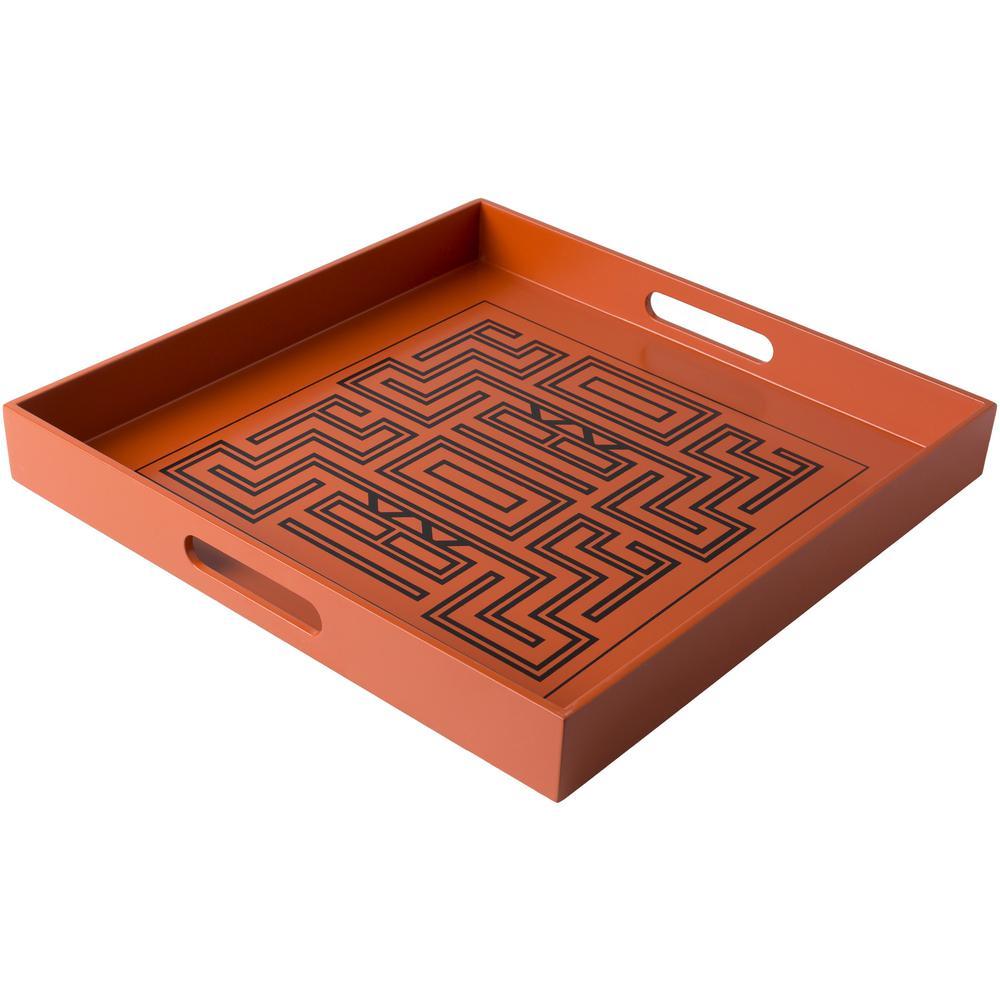 Ark Burnt Orange 15.7 in. Decorative Tray