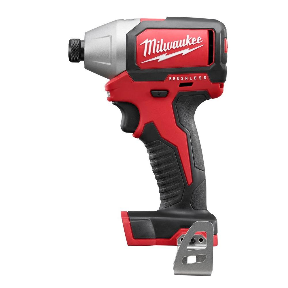 milwaukee m18 logo. milwaukee m18 18-volt 1/4 in. cordless hex brushless impact driver kit logo p
