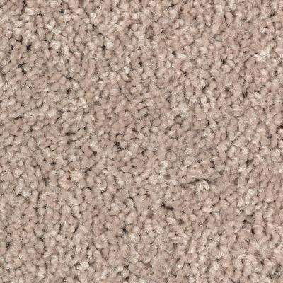 Carpet Sample - Rail Street - Color Cream Textured 8 in. x 8 in.