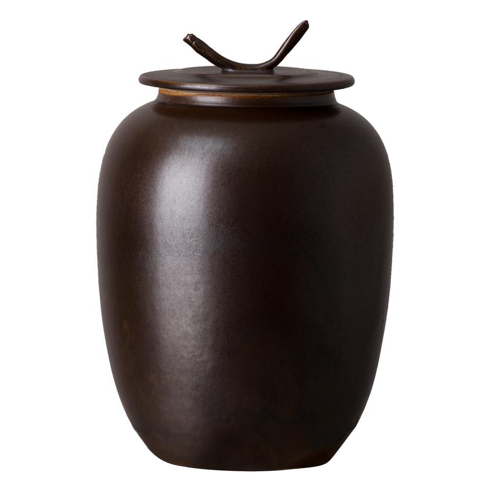Japanese Smokey Matte Ceramic Tea Canister