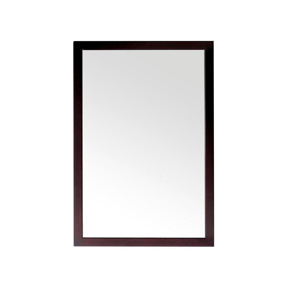 Pegasus Parisian 23 in. W x 32 in. LBirch Espresso Framed Wall Mirror