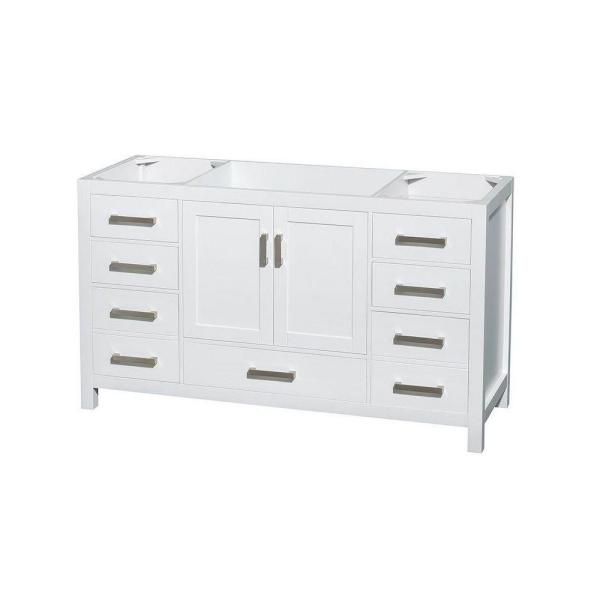 Sheffield 59 in. Vanity Cabinet Only in White