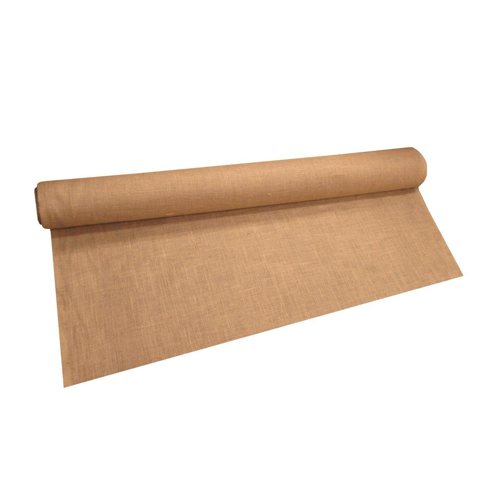 L.A. Linen 40 in. W Natural Burlap Fabric in Natural
