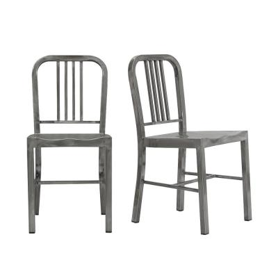 Gunmetal Dining Chairs Kitchen Dining Room Furniture The Home Depot