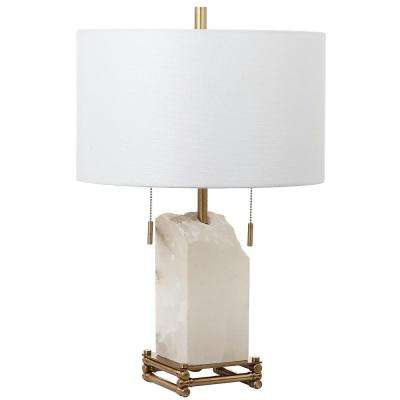 Pearl Alabaster 24 In. White/Gold Table Lamp
