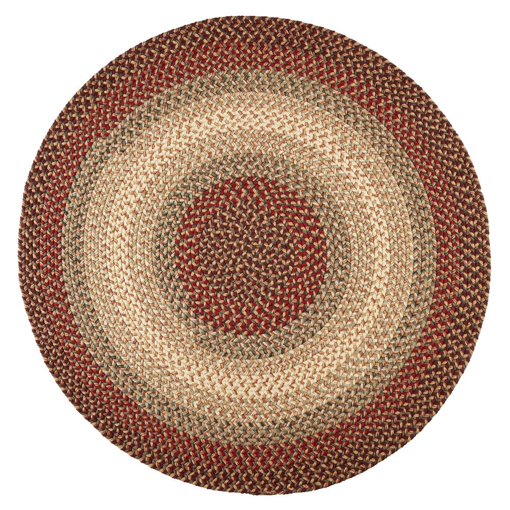Rhody Rug Ombre Spanish Red 6 Ft X 6 Ft Round Indoor