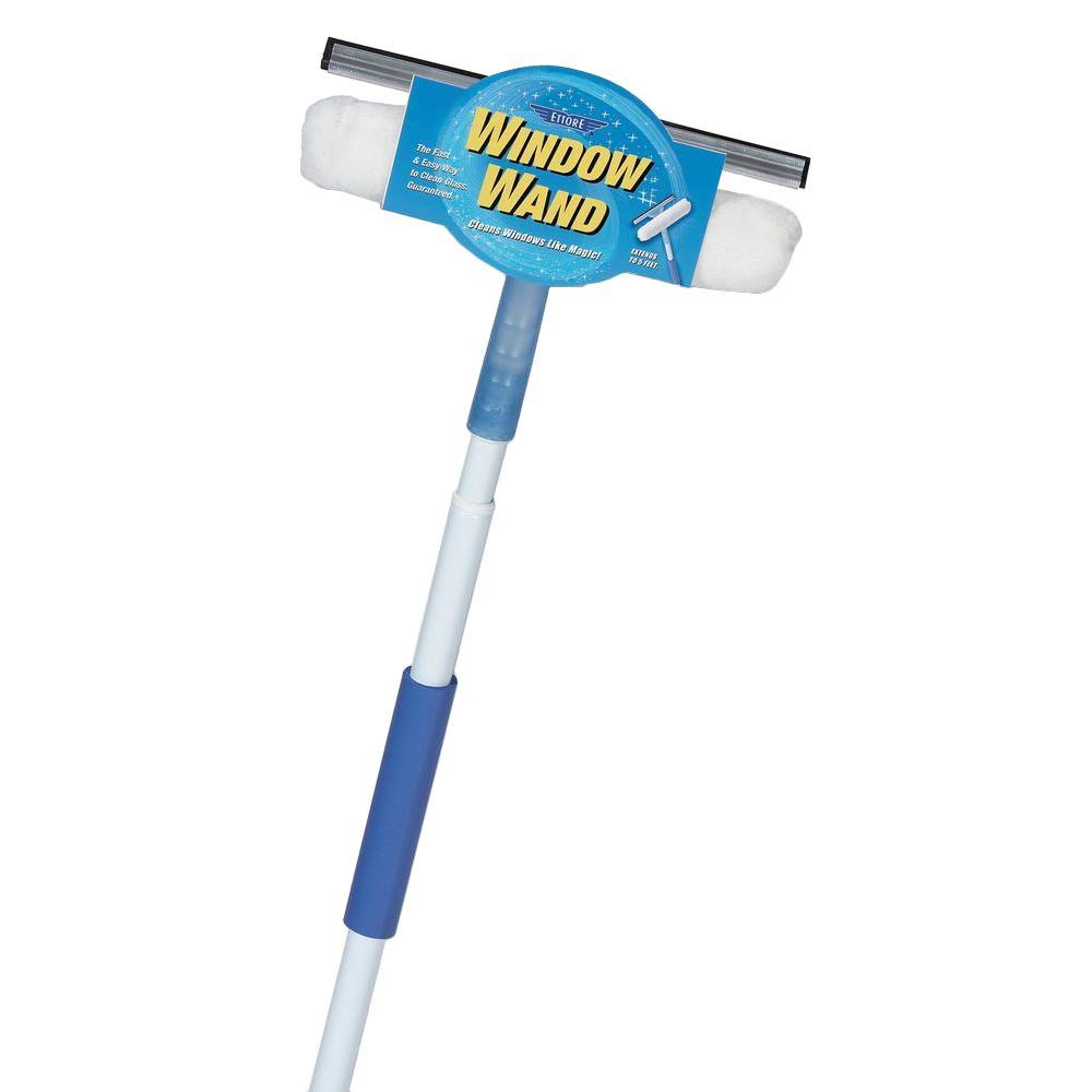 Ettore Squeegee and Scrubber Combo Window Wand