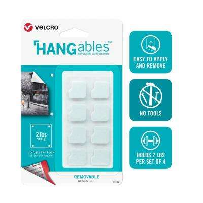 HANGables Removable Wall Fasteners Squares (16-Count)