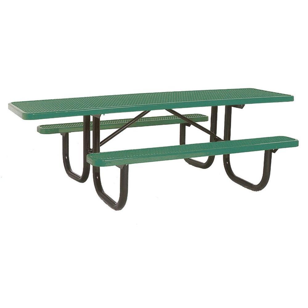 8 ft. Diamond Green Commercial Park ADA Portable Rectangular Table