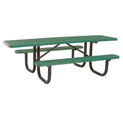 8 ft. Diamond Green Commercial Park ADA Portable Rectangular Table