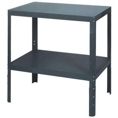 36 in. H x 36 in. W x 24 in. D Adjustable Steel Work Table
