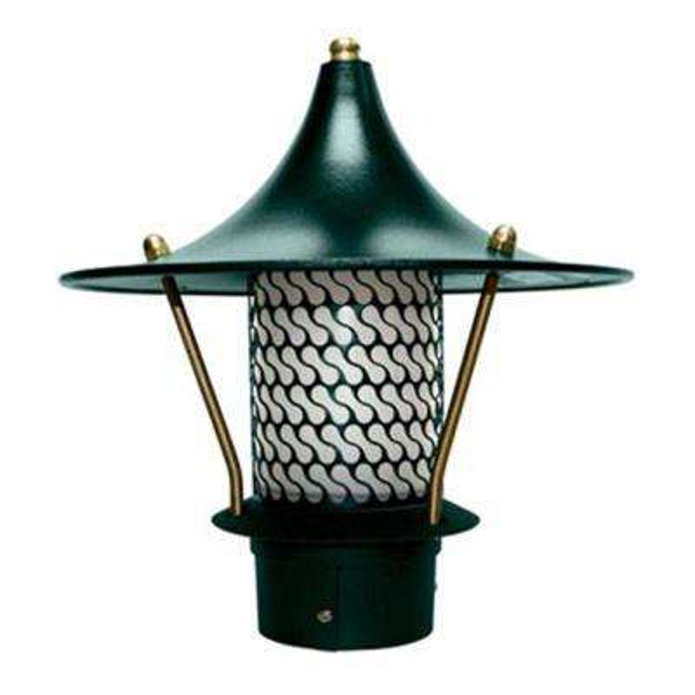 Corbin 1-Light Green Flair Top Outdoor Pagoda Pathway Light