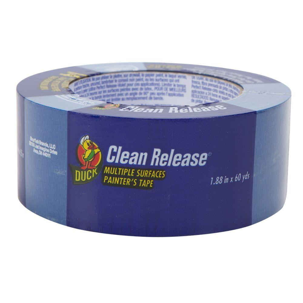 Duck 1.88 in. x 60 yds. Blue Clean Release Masking Tape, (12-Pack)