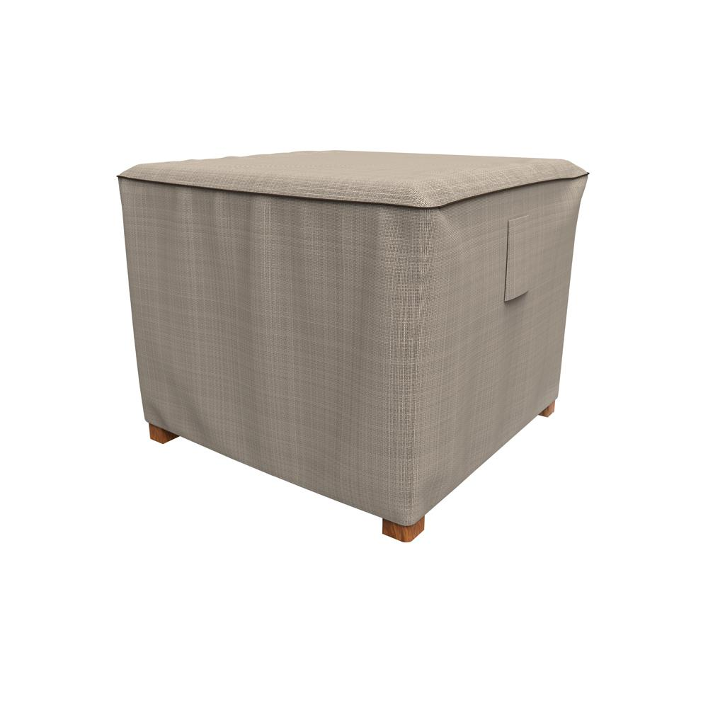 Rust-Oleum NeverWet Mojave Small Black Ivory Square Patio Table/Ottoman Cover
