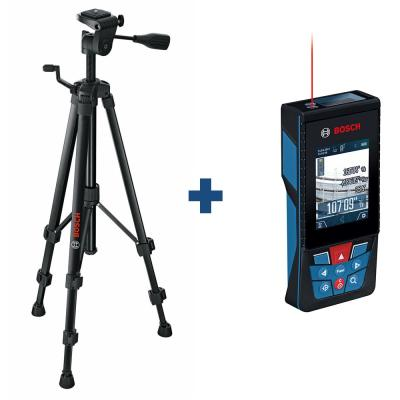Compact Tripod with Extendable Height Plus Blaze 400 ft. Outdoor Laser Measure with Bluetooth and Camera Viewfinder