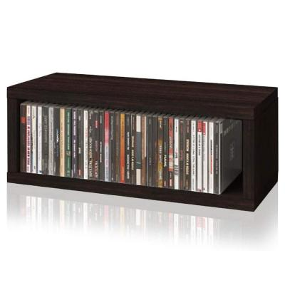 zBoard Espresso Stackable CD Rack Storage Shelf