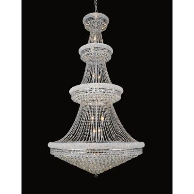 Empire 42-light chrome chandelier