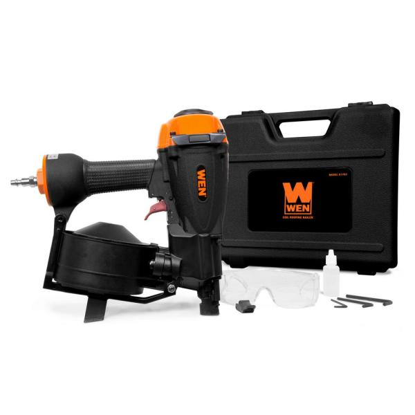 WEN 3/4 in. to 1-3/4 in. Pneumatic Coil Roofing Nailer