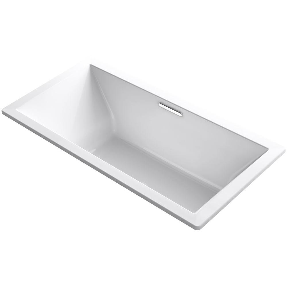 Acrylic Rectangular Drop In Or Undermount Non Whirlpool Bathtub In