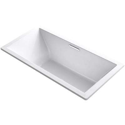 Underscore 6 ft. Acrylic Rectangular Drop-in or Undermount Non-Whirlpool Bathtub in White