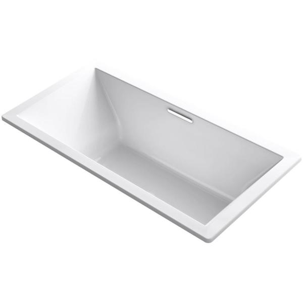 Underscore 6 ft. Acrylic Rectangular Drop-in or Undermount Non-Whirlpool Bathtub in White