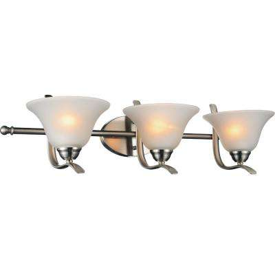 Cosmo 3-Light Satin Nickel Sconce